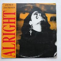 "Janet Jackson ""Alright"" Vinyl Record Original 12"" Pressing 1993 Dance Pop"
