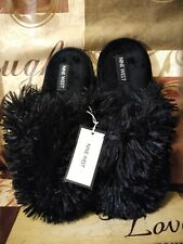 78efeb19c21 Women s Nine West Fluffy Plush Comfortable Step Indoor Outdoor Slippers