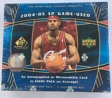 2004-05 Upper Deck SP Game Used Basketball Hobby Box Factory Sealed FASC