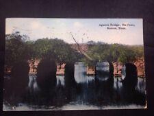 Agassiz Bridge The Fens Boston Massachusetts Vintage Hand Colored Postcard 1912