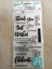 Hampton Art Clear Acrylic Stamp Set Words Layering Sayings SC0752 NEW