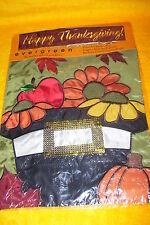 "Evergreen Decorative Garden Flag, 12 1/2"" X 17 1/2"" A Pilgrims Harvest, New"
