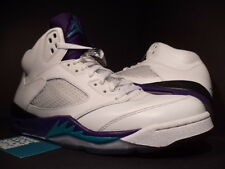 2013 Nike Air Jordan V 5 Retro WHITE EMERALD GREEN GRAPE ICE BLACK 136027-108 12