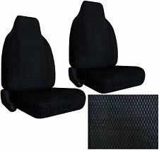 Durable Scottsdale Fabric 2 Black High Back Bucket Car Seat Covers sc-906-bkdgd