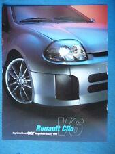 """RENAULT CLIO SPORT V6 24V BROCHURE""""jm"""
