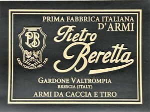 PRESENTATION CUSTOM CASE BOX BIG TRADE LABEL for BERETTA SHOTGUN GUN pistol