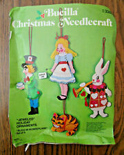 Bucilla Alice In Wonderland Felt Holiday Ornament Kit Complete But Damaged