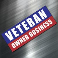 (1) VETERAN OWNED Sign Sticker Business Decal Store Office Shop Window Door NEW