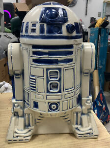 "Vintage 1977 Star Wars R2D2 Ceramic 12.5"" Tall Cookie Jar 20th Century Fox"