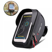 Bicycle Front Top Tube Frame Bag Waterproof Cycling Bike Phone Holder Case Bag