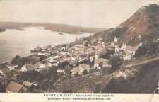 Fountain City Mississippi Birdseye View Of City Antique Postcard K73351
