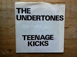 "The Undertones Teenage Kicks Hand Folded White Sleeve 7"" EX Vinyl Record GOT4"