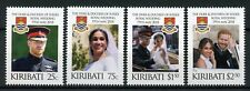 Kiribati 2018 MNH Prince Harry & Meghan Royal Wedding 4v Set Royalty Stamps