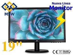 """Monitor 19"""" Pollici VGA per DVR / NVR / PC per KIT di videosorveglianza computer"""