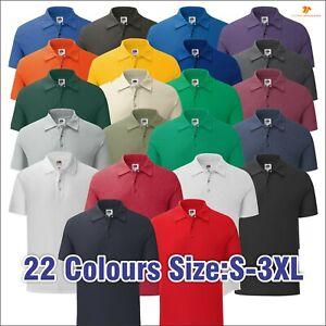 FOTL Casual Workwear Plain Polo Shirt Iconic Mens Short Sleeve Polo TOP S-3XL