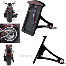 MOTORCYCLE LED SIDE AXLE MOUNT BLACK BIKE PLATE HOLDER BRAKE LICENSE TAG LIGHT