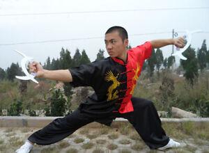 Silk Martial Arts Uniform Kung Fu Tai Chi Shaolin Suit Clothes Dragon Embroidery