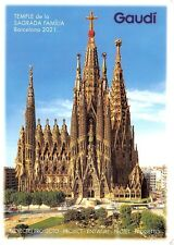 Spain Gaudi Temple de la Sagrada Familia Barcelona 2021...