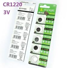 5PCS 3V CR1220 DL1220 ECR1220 3 Volt Button Coin Cell Battery for CMOS watch toy