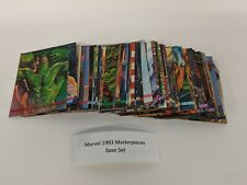 Skybox 1993 Marvel Masterpieces Trading Cards BASE SET Great Condition SACD05