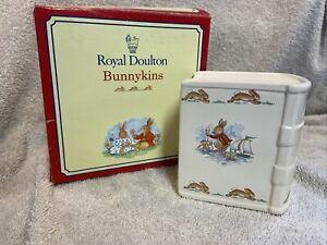 Vintage Royal Doulton Bunnykins 1994 Savings Book Bank With Box