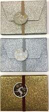 3 Glitter Gift Card Box Christmas Festive Gift Vouchers Jewellery Money Greeting