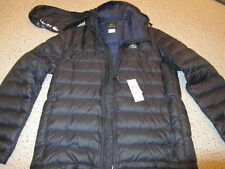 Lacoste Packable Water Repellant Down Black Jacket Coat w/ hood NWT 56 XL $295