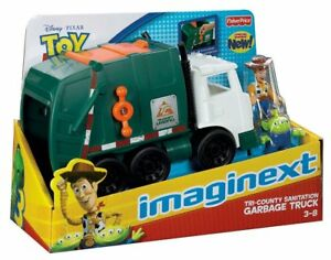 Fisher-Price Toy Story 3 Imaginext Tri-County Sanitation Garbage Truck Kids Toy