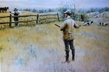 vintage art by A.B. Frost Hunter Farmer dogs Fence