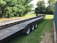 1998 Diamond 40' Gooseneck car hauler trailer