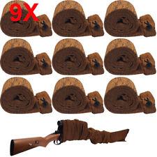 9PCS Shooting Rifle Gun Sock Silicone Treated Anti Rust Dirt Shotgun Storage Bag