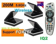 New* 5.8GHz Wireless AV Sender IR> remote ex 2 Receivers + FOXTEL Remote IQ2 *