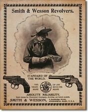 Smith & Wesson Standard of the World Tin Sign 1464 Post 2-13 signs $15 flat rate
