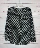 COLLECTIVE CONCEPTS Stitch Fix Women's M Medium Black Long Sleeve Top Blouse