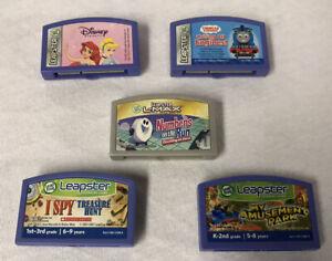 Leapfrog Leapster Game Lot Of 5 Disney Princesses Thomas Train Numbers Treasure