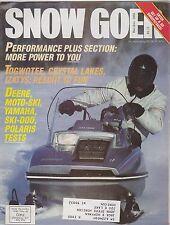 DEC 1983 SNOW GOER snowmobile magazine