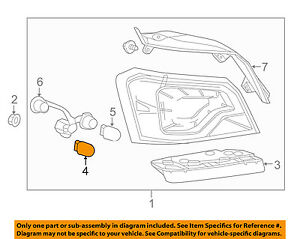 Chevrolet GM OEM 14-18 Impala-Tail Lamp Assembly Seal Right 23453699
