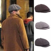 Multi-Color Mens Tweed Newsboy Cap Peaky Blinders Baker Boy Flat Check Hats
