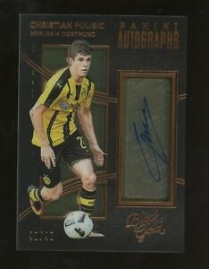 2016-17 Panini Black Gold Soccer Christian Pulisic RC Rookie AUTO 43/49