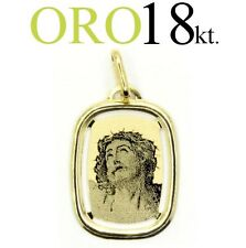 medaglia ciondolo regalo volto CRISTO oro 18kt. 750/1000 comunione cresima
