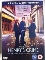 Henry's Crime DVD 2010 Crime Heiste Caper Comedy Film Movie w/ Keanu Reeves BNIB