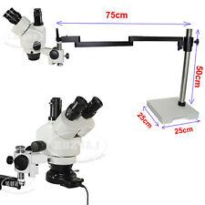Soporte de brazo largo 7X-45X trinocular Inspección Microscopio estéreo de zoom conjunto de la industria
