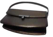 Vintage Paco Rabanne Epi Leather Handbag Dark Olive Green Purse