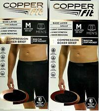 Copper Fit Boxer Briefs Compression Shorts Men's M (30�- 32� Waist) Lot of 2
