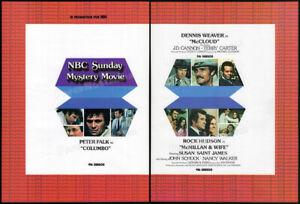 NBC Sun. MYSTERY MOVIE__Orig. 1974 Trade AD promo__COLUMBO_McCLOUD_McMILLAN WIFE