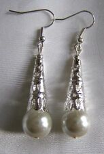 Unbranded Glass Silver Plated Costume Earrings without Stone
