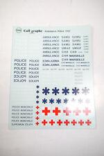 Decals Sticker Calligraphe G 68 Ambulance Police Ect. 1:43 New (K37) #49