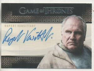 "Game of Thrones VALYRIAN STEEL Auto Trading Card Rupert Vansittart ""Yohn Royce"""