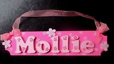 MOLLIE GIRLS LARGE PERSONALISED DOOR OR WALL PLAQUE