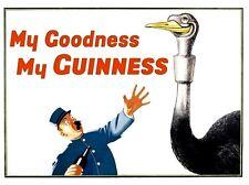 GUINNESS POSTER  - My Goodness, My Guinness NOSTALGIC  RETRO SIGN - VINTAGE ART